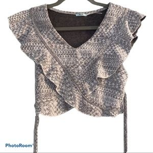 Kimchi Blue Urban Outfitter Festival Crop Top Gray